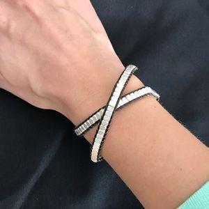 Stella & Dot Nugget Silver Wrap Bracelet